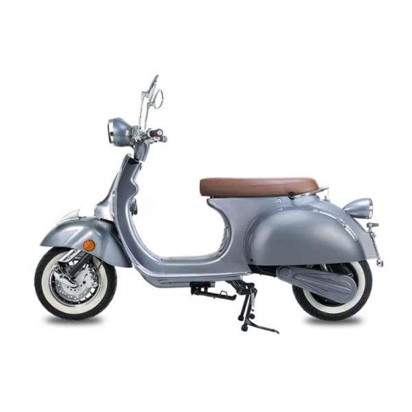 e-ros Retro Elektro-Roller (Scooter) Silbergrau E-LEVEN Mobility-Solutions