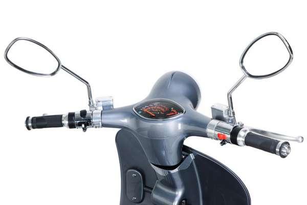 e-ros Retro Elektro-Roller (Scooter) Lenkrad-Grau E-LEVEN Mobility-Solutions