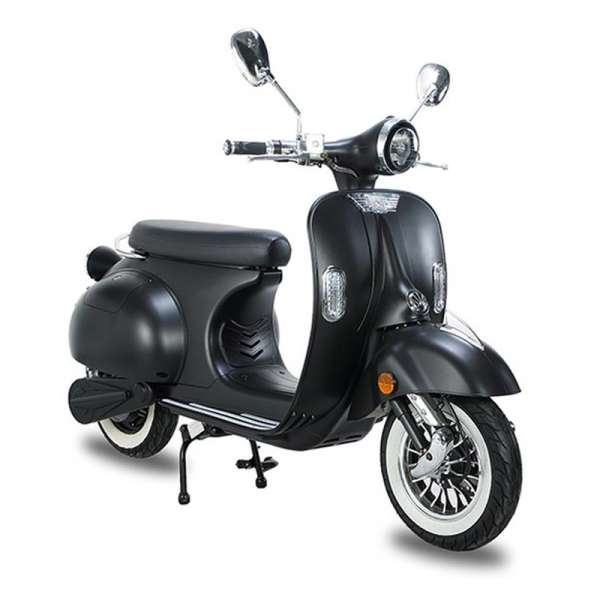 e-ros Retro Elektro-Roller (Scooter) Mattschwarz E-LEVEN Mobility-Solutions
