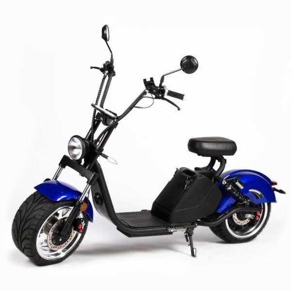e-ben Elektro Scooter im Shopper Design Farbe Blau E-LEVEN mobilty solutions