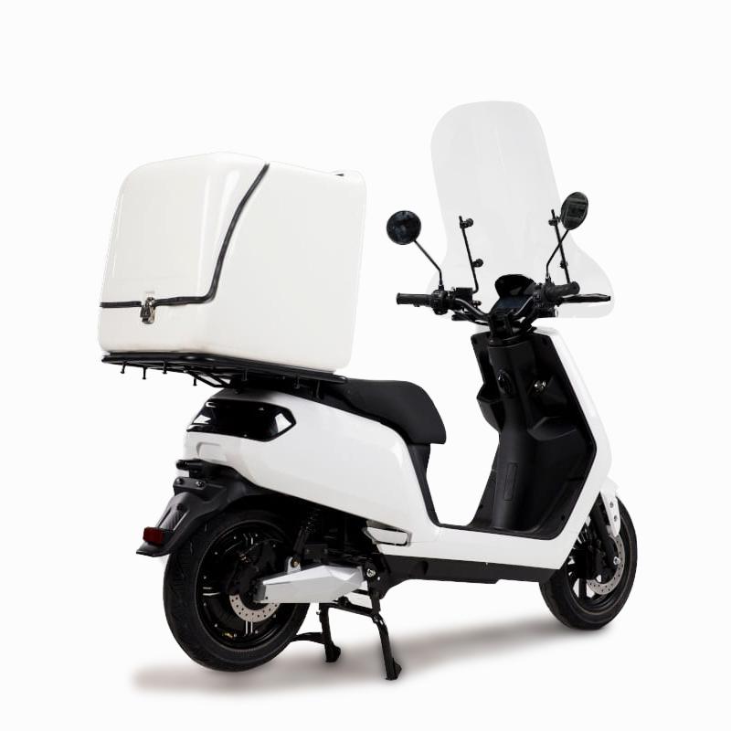 e-xpress Delivery-/Liefer-Scooter mit Cargo-Box und Winschutzscheibe E-LEVEN mobility solutions Stuttgart