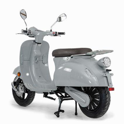 e-ros 365 Elektro Roller Grau heck E-LEVEN Mobility Solutions