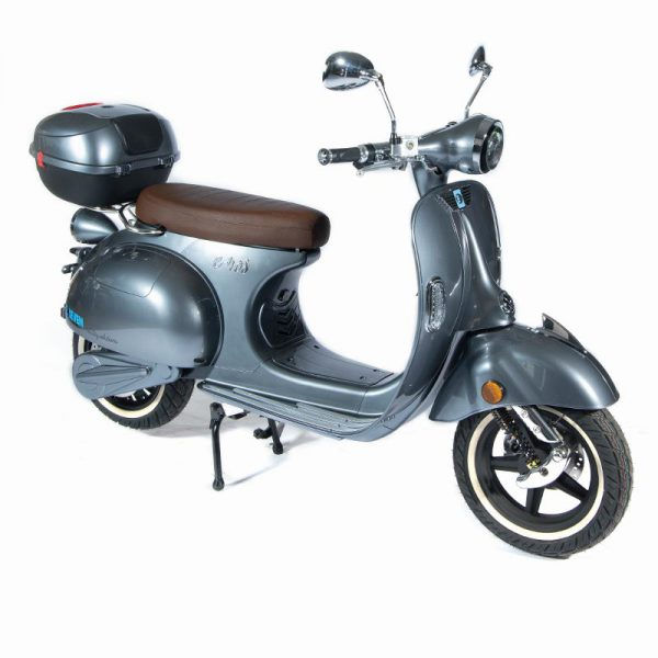 e-ros365 Scooter / Roller grau perspektive-front – E-LEVEN Mobility Solutions