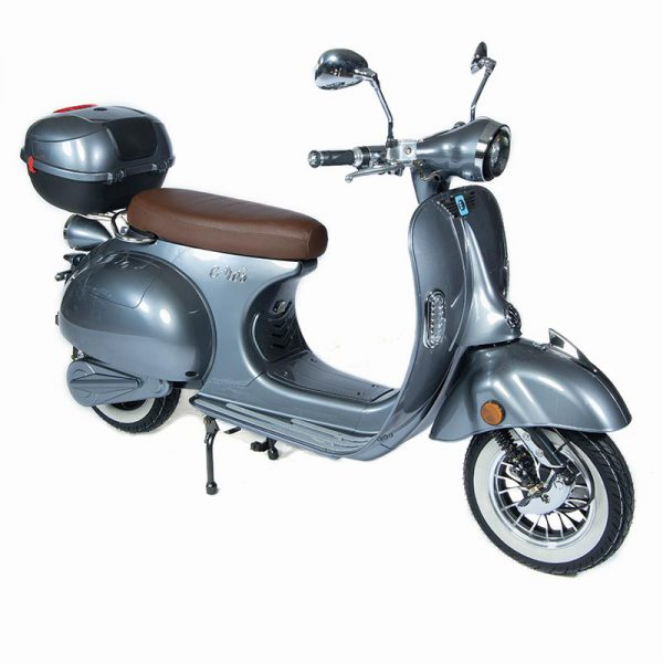 e-ros Elektro Roller / Scooter grau / perspektive-front - E-LEVEN Mobility Solutions