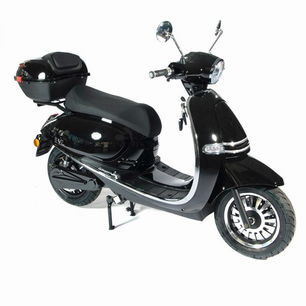 e-vil Performance Scooter / Roller schwarz mit lackiertem Topcase - E-LEVEN Mobility Solutions