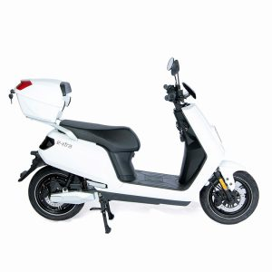 e-xtra Scooter / Roller mit Topcase weiß / seite - E-LEVEN Mobility Solutions
