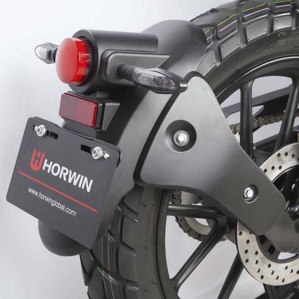 Horwin CR6 Detail LED-Rückleuchte und Kotflügel E-LEVEN mobility solutions
