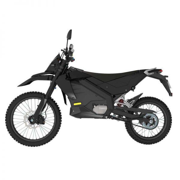 Tinbon Esum ES-1 Elektro-Enduro-Motorrrad Schwarz Seite links E-LEVEN mobility solutions