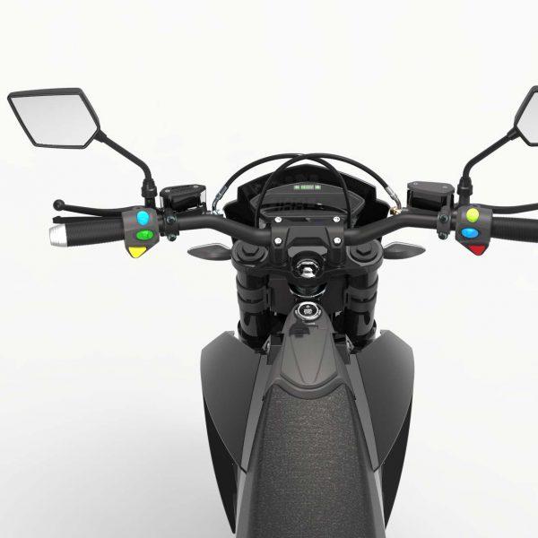 Tinbon Esum ES-1 Elektro-Enduro-Motorrrad Detail Tacho Lenker E-LEVEN mobility solutions