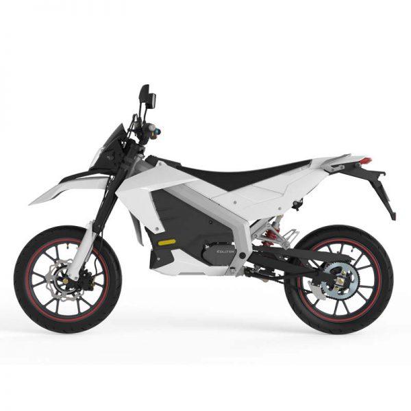 Tinbon Esum ES-1 Elektro-Enduro-Motorrrad Weiß Seite links E-LEVEN mobility solutions