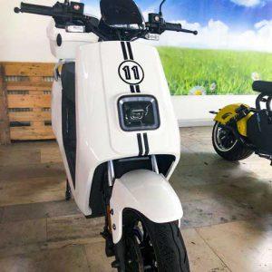 Wunschzahl mit Rallystreifen Mattschwarz E-LEVEN mobility solutions